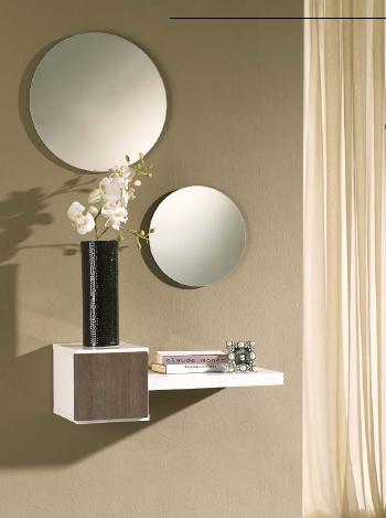 Recibidor espejo circulos