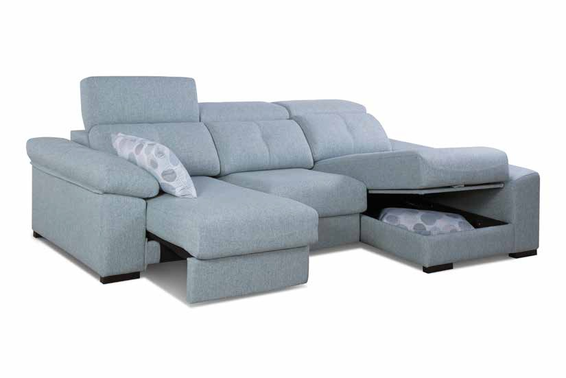 CHAISE LONGUE CON ARC�N Y ASIENTOS EXTENSIBLES