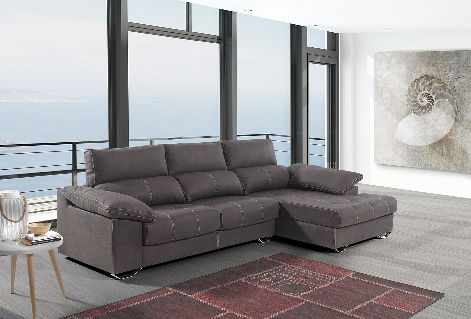 SOFA CON CHAISELONGUE. OFERTA